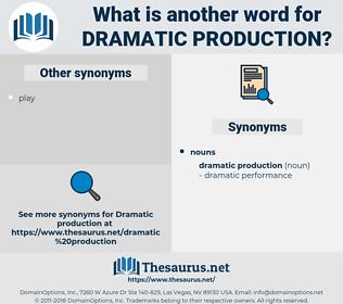 dramatic production, synonym dramatic production, another word for dramatic production, words like dramatic production, thesaurus dramatic production