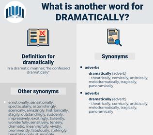 dramatically, synonym dramatically, another word for dramatically, words like dramatically, thesaurus dramatically