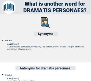 dramatis personaes, synonym dramatis personaes, another word for dramatis personaes, words like dramatis personaes, thesaurus dramatis personaes