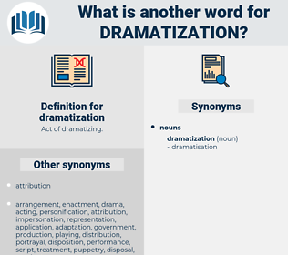 dramatization, synonym dramatization, another word for dramatization, words like dramatization, thesaurus dramatization