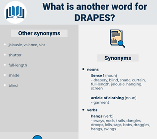 drapes, synonym drapes, another word for drapes, words like drapes, thesaurus drapes