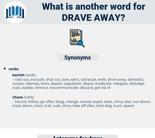 drave away, synonym drave away, another word for drave away, words like drave away, thesaurus drave away