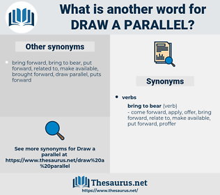 draw a parallel, synonym draw a parallel, another word for draw a parallel, words like draw a parallel, thesaurus draw a parallel