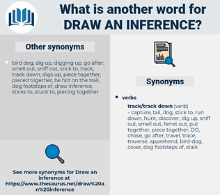 draw an inference, synonym draw an inference, another word for draw an inference, words like draw an inference, thesaurus draw an inference