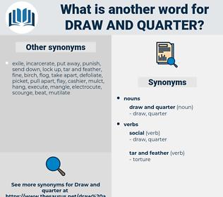 draw and quarter, synonym draw and quarter, another word for draw and quarter, words like draw and quarter, thesaurus draw and quarter