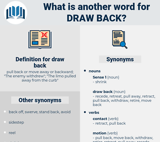 draw back, synonym draw back, another word for draw back, words like draw back, thesaurus draw back