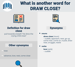 draw close, synonym draw close, another word for draw close, words like draw close, thesaurus draw close