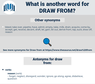 draw from, synonym draw from, another word for draw from, words like draw from, thesaurus draw from