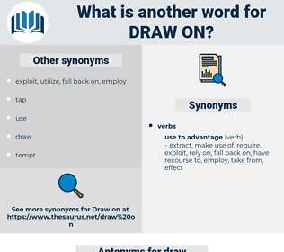 draw on, synonym draw on, another word for draw on, words like draw on, thesaurus draw on