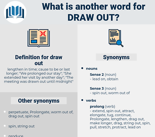 draw out, synonym draw out, another word for draw out, words like draw out, thesaurus draw out