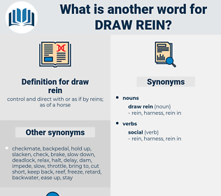 draw rein, synonym draw rein, another word for draw rein, words like draw rein, thesaurus draw rein