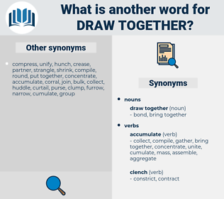 draw together, synonym draw together, another word for draw together, words like draw together, thesaurus draw together