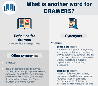 drawers, synonym drawers, another word for drawers, words like drawers, thesaurus drawers