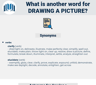 drawing a picture, synonym drawing a picture, another word for drawing a picture, words like drawing a picture, thesaurus drawing a picture