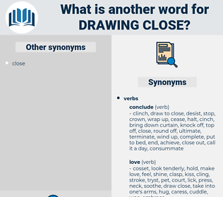 drawing close, synonym drawing close, another word for drawing close, words like drawing close, thesaurus drawing close