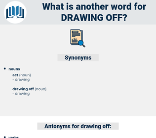 drawing off, synonym drawing off, another word for drawing off, words like drawing off, thesaurus drawing off