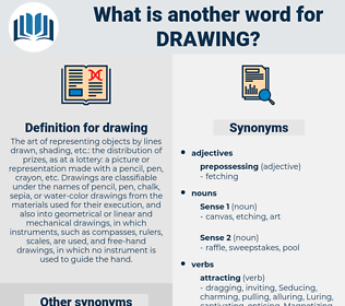 drawing, synonym drawing, another word for drawing, words like drawing, thesaurus drawing