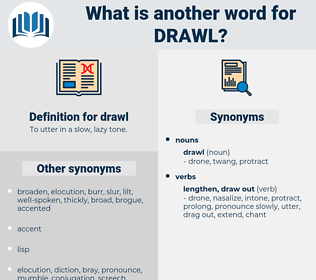 drawl, synonym drawl, another word for drawl, words like drawl, thesaurus drawl