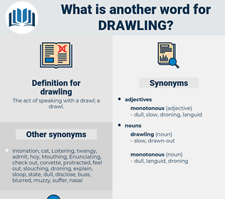 drawling, synonym drawling, another word for drawling, words like drawling, thesaurus drawling
