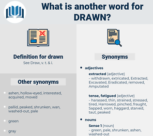 drawn, synonym drawn, another word for drawn, words like drawn, thesaurus drawn