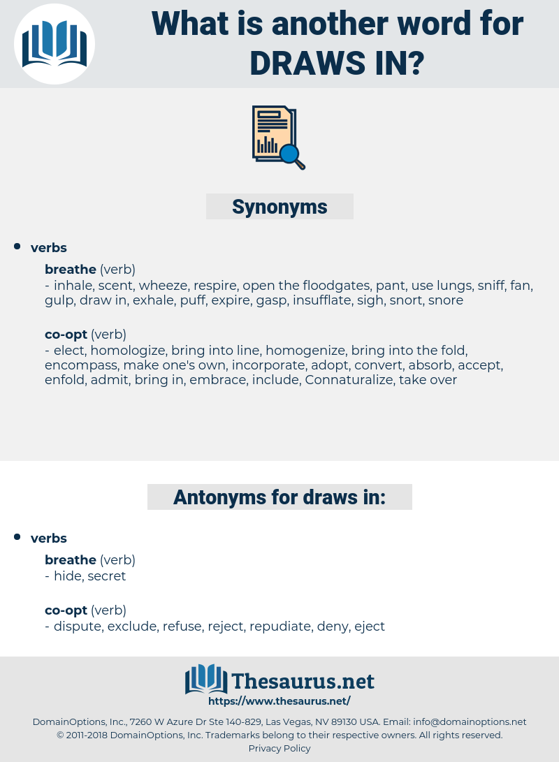 draws in, synonym draws in, another word for draws in, words like draws in, thesaurus draws in
