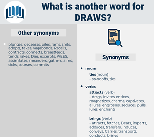 draws, synonym draws, another word for draws, words like draws, thesaurus draws
