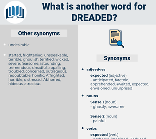 dreaded, synonym dreaded, another word for dreaded, words like dreaded, thesaurus dreaded