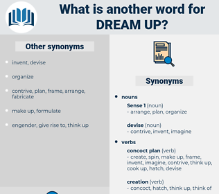 dream up, synonym dream up, another word for dream up, words like dream up, thesaurus dream up