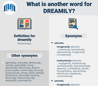 dreamily, synonym dreamily, another word for dreamily, words like dreamily, thesaurus dreamily