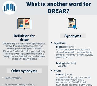 drear, synonym drear, another word for drear, words like drear, thesaurus drear
