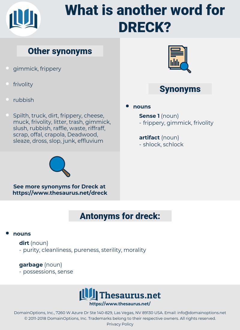 dreck, synonym dreck, another word for dreck, words like dreck, thesaurus dreck