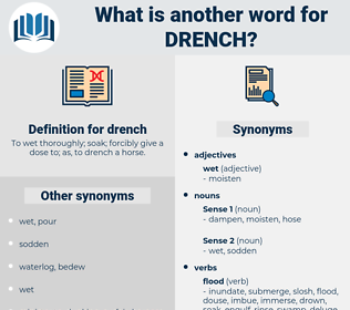 drench, synonym drench, another word for drench, words like drench, thesaurus drench