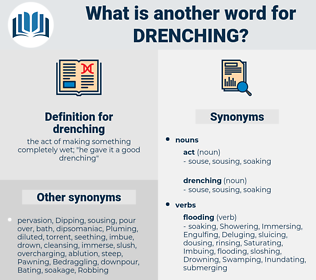 drenching, synonym drenching, another word for drenching, words like drenching, thesaurus drenching