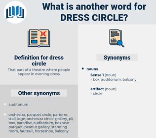 dress circle, synonym dress circle, another word for dress circle, words like dress circle, thesaurus dress circle