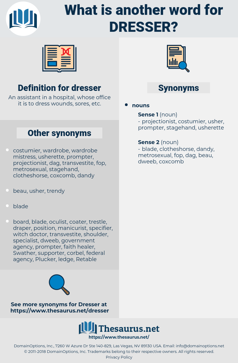 dresser, synonym dresser, another word for dresser, words like dresser, thesaurus dresser