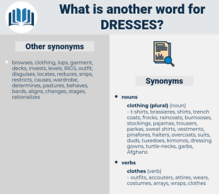 dresses, synonym dresses, another word for dresses, words like dresses, thesaurus dresses