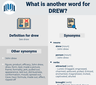 drew, synonym drew, another word for drew, words like drew, thesaurus drew