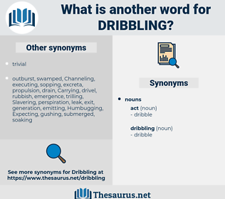 dribbling, synonym dribbling, another word for dribbling, words like dribbling, thesaurus dribbling