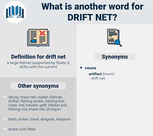 drift net, synonym drift net, another word for drift net, words like drift net, thesaurus drift net