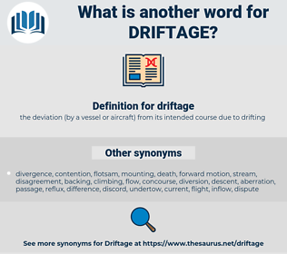 driftage, synonym driftage, another word for driftage, words like driftage, thesaurus driftage