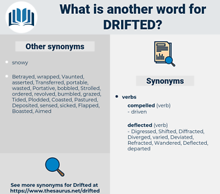 Drifted, synonym Drifted, another word for Drifted, words like Drifted, thesaurus Drifted
