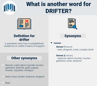drifter, synonym drifter, another word for drifter, words like drifter, thesaurus drifter