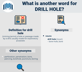 drill hole, synonym drill hole, another word for drill hole, words like drill hole, thesaurus drill hole
