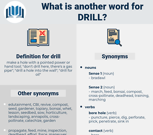 drill, synonym drill, another word for drill, words like drill, thesaurus drill