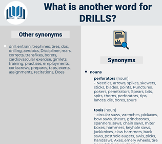 Drills, synonym Drills, another word for Drills, words like Drills, thesaurus Drills