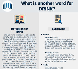 drink, synonym drink, another word for drink, words like drink, thesaurus drink