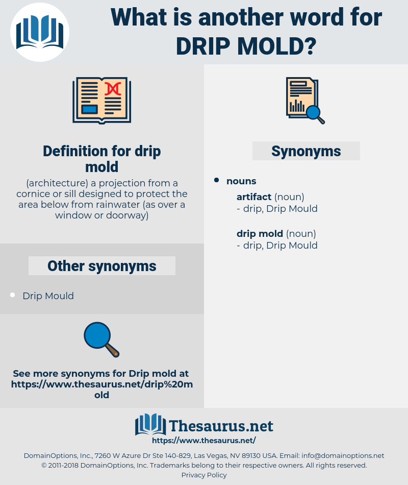 drip mold, synonym drip mold, another word for drip mold, words like drip mold, thesaurus drip mold