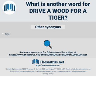drive a wood for a tiger, synonym drive a wood for a tiger, another word for drive a wood for a tiger, words like drive a wood for a tiger, thesaurus drive a wood for a tiger