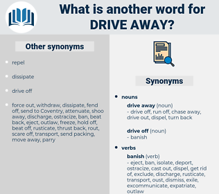 drive away, synonym drive away, another word for drive away, words like drive away, thesaurus drive away