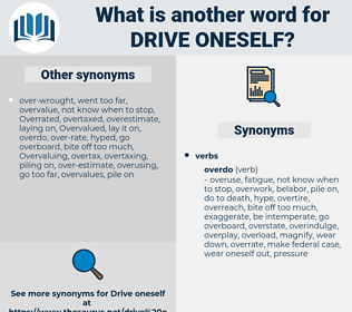 drive oneself, synonym drive oneself, another word for drive oneself, words like drive oneself, thesaurus drive oneself